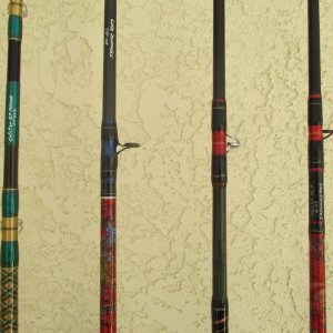 IMG 1842 a few custom bait rods.