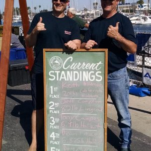 2015 Halibut Derby - One the board DayOne.  By day two I moved down to second Place.